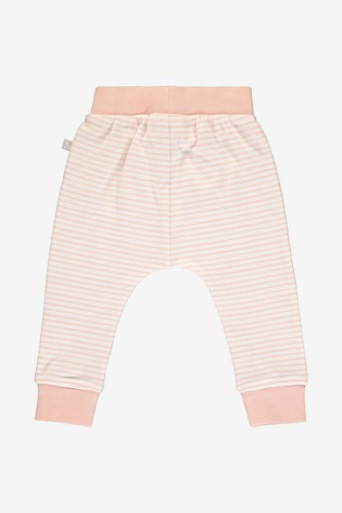 The Little Tailor Pink Yarn Dyed Stripe Jersey Slouch Pants