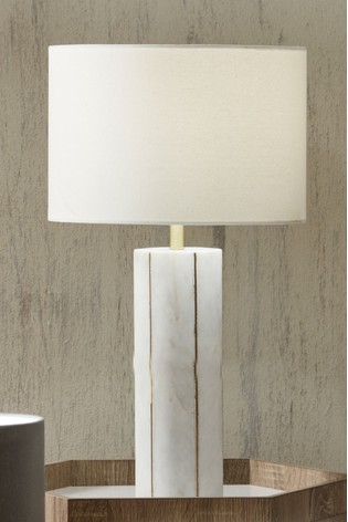 Venetia Marble And Gold Metal Tall Table Lamp by Pacific