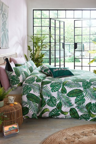 Skinnydip Dominica Botanical Duvet Cover and Pillowcase Set