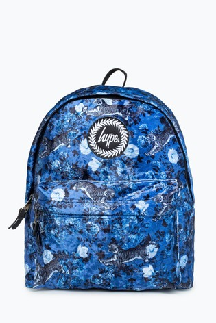 Hype. Blue Orient Floral Backpack