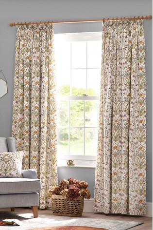 The Chateau by Angel Strawbridge Potagerie Cotton Lined Pencil Pleat Curtains