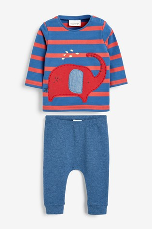 Red Elephant T-Shirt And Joggers Two Piece Set (0mths-2yrs)