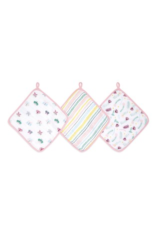 aden + anais Essentials Floral Fauna Washcloth Set Three Pack