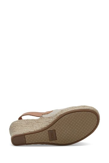 TOMS Natural Oxford Leather Monica Sandals