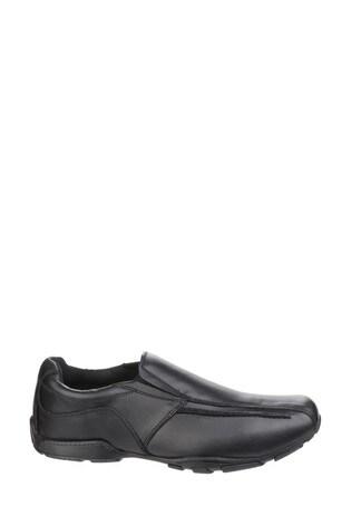 Hush Puppies Black Bespoke Senior Back To School Shoes