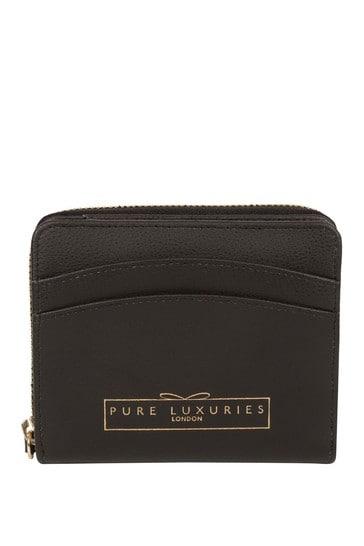 PureLuxuries London Black Emely Leather Purse