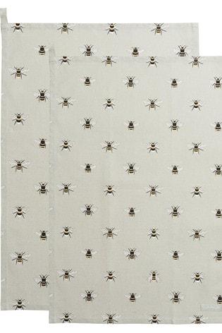Set of 2 Sophie Allport Bee Tea Towels