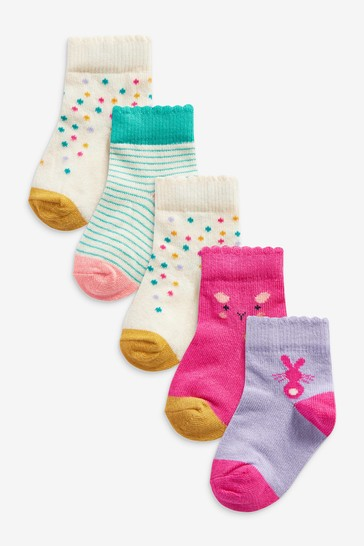 Bright Character 5 Pack Socks (Younger)