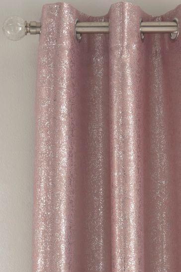 Halo Velvet Metallic Textured Print Eyelet Blackout/Thermal Curtains