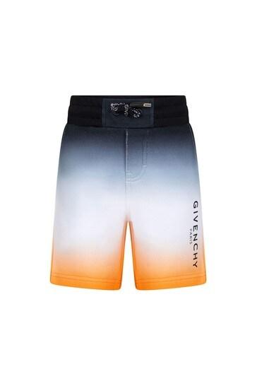 Boys Dip Dye Cotton Shorts