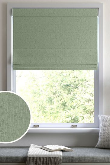 Sage Chenille Made to Measure Roman Blind