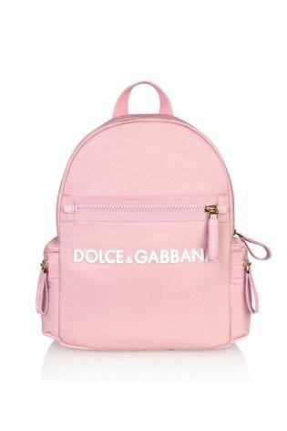 Dolce & Gabbana Girls Pink Cotton Backpack
