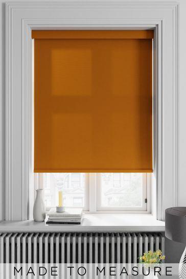 Asher Mustard Yellow Made To Measure Light Filtering Roller Blind