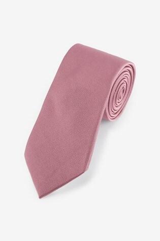 Rose Wide Twill Tie