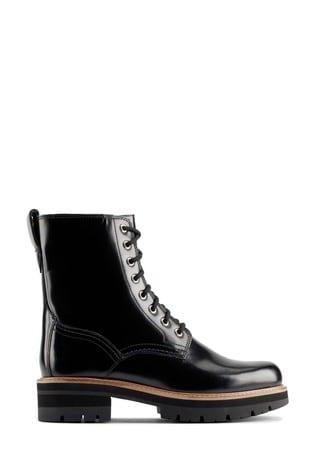 Clarks Black Leather Orianna Hi Boots