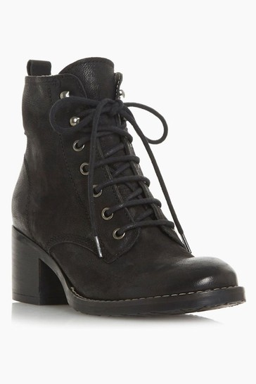 Dune London Patsie Black Warm Lined Ankle Boots