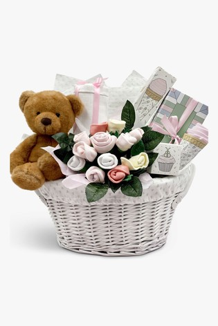 Babyblooms Pink Charlie Bear's New Baby Gift Basket