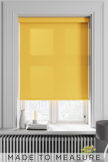 Asher Sunshine Yellow Made To Measure Light Filtering Roller Blind