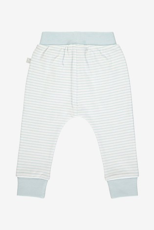 The Little Tailor Blue Yarn Dyed Stripe Jersey Slouch Pants