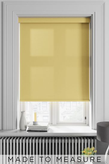 Asher Ochre Yellow Made To Measure Light Filtering Roller Blind