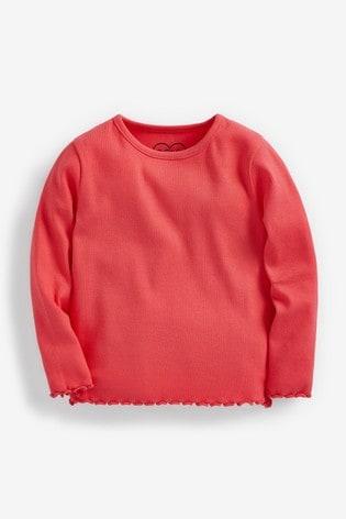 Bright Pink T-Shirt Rib Jersey (3mths-8yrs)