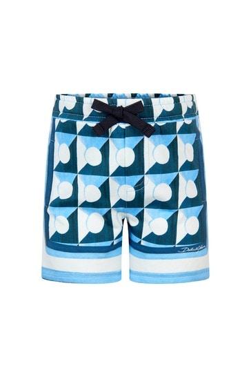 Dolce & Gabbana Baby Boys Blue Cotton Shorts