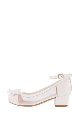 Monsoon Princess Crystal Shimmer Heeled Shoes