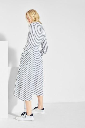 Yaitte x Label Stripe Shirt Dress