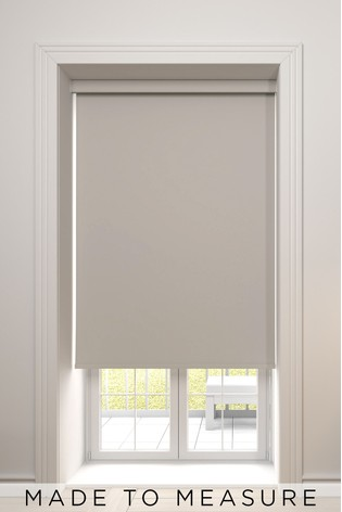 Haig Mouse Brown Made To Measure Blackout Roller Blind