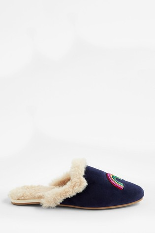 Accessorize Blue Embellished Constellation Mules