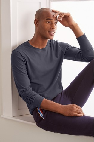Boden London Grey Long Sleeve Washed T-Shirt