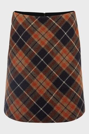 Hobbs Orange Camel Elea Wool Skirt