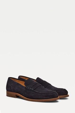 Tommy Hilfiger Blue Suede Loafers