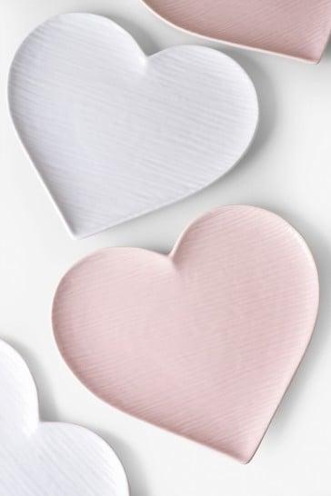Set of 4 Heart Side Plates