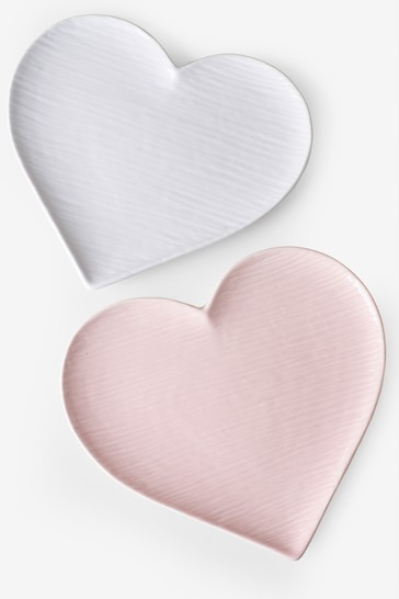 Hearts Set of 4 Side Plates