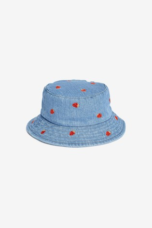 Denim All Over Embroidered Bucket Hat (3mths-6yrs)