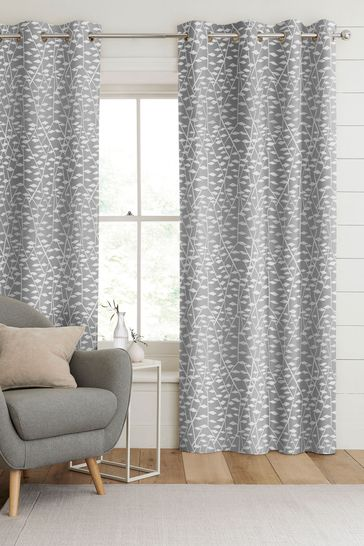 Coraline Silver Grey Made To Measure Curtains