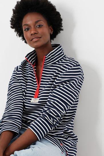Joules Blue Pip Casual Half Zip Sweatshirt