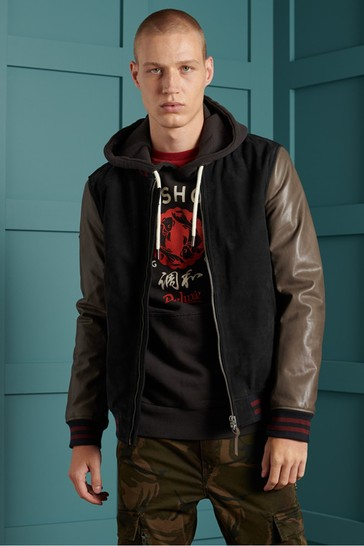 Superdry Varsity Leather Jacket