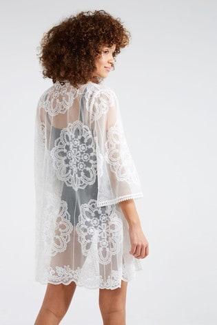 F&F White Lace Kaftan