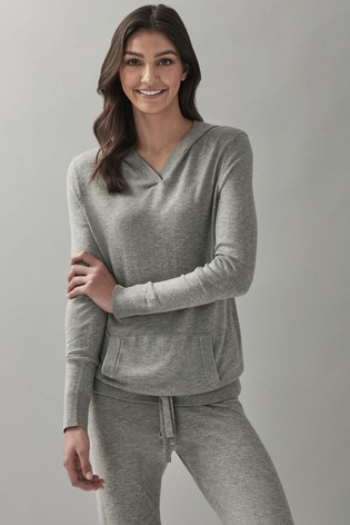 Crew Clothing Grey Knitted Hoody
