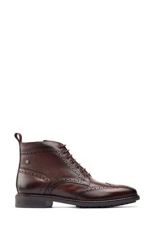 Base London® Brown Berkley Brogue Boots