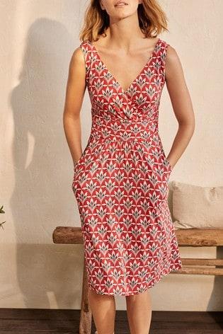 Boden Red Effie Jersey Dress
