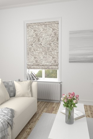 Marble Silver Made To Measure Roman Blind
