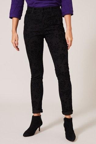 Phase Eight Black Rose Flock Jeans