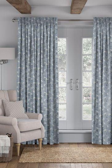 Sky Blue Carrara Made To Measure Curtains