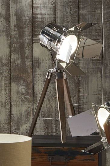 Pacific Grey Hereford Tripod Table Lamp