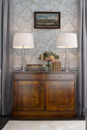 Garrat Dark Chestnut 2 Door 2 Drawer Sideboard by Laura Ashley