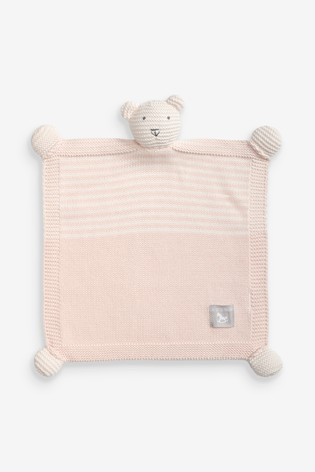 The Little Tailor Pink Baby Ted Toy Comforter