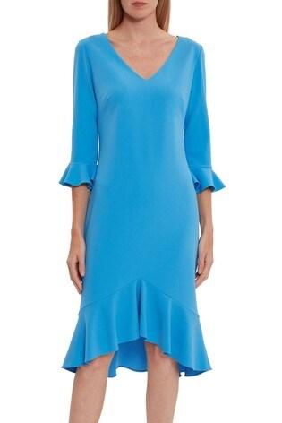 Gina Bacconi Daphne Stretch Crepe Dress